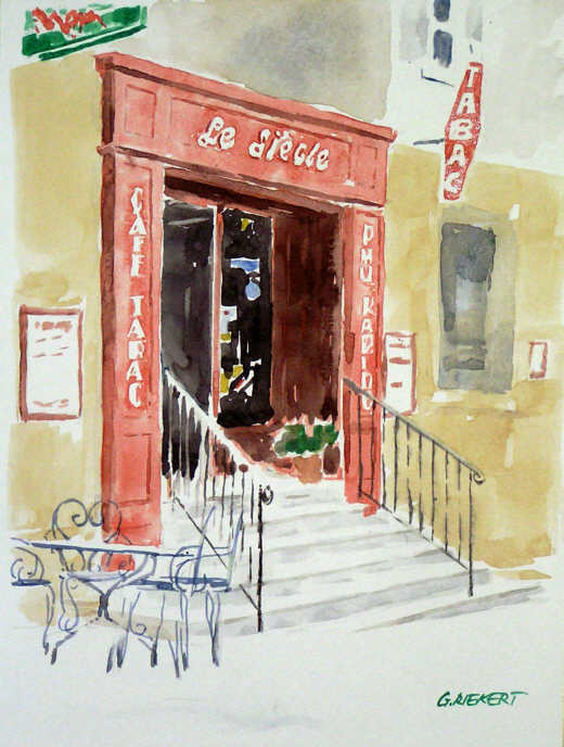 Café à Sault, Provence