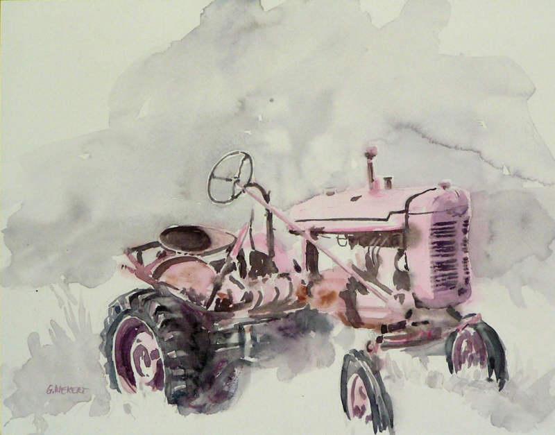 le tracteur rose