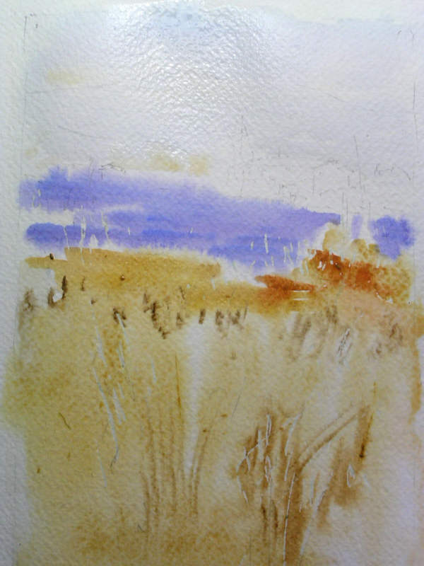Weizen und Lavendel