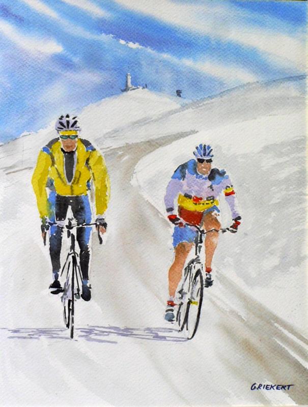 downhill Mont Ventoux