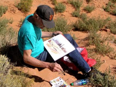 peinture en pays Navajo