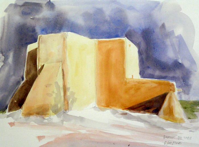 Eglise a Ranchos de Taos