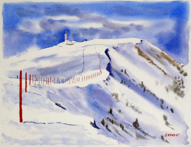 neige au Ventoux